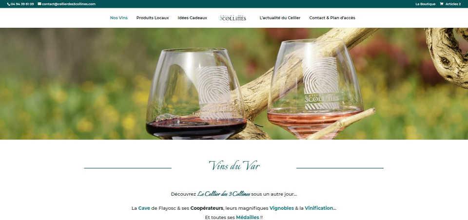 Nouveau site Internet - Boutique en Ligne | LE CELLIER DES 3 COLLINES