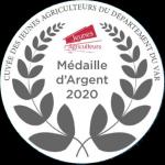 Palmarès 2020 - Millésimes 2019 | LE CELLIER DES 3 COLLINES - Médaille d'Argent Concours Cuvée des Jeunes Agriculteurs du Département du Var
