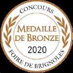 Palmarès 2020 - Millésimes 2019 | LE CELLIER DES 3 COLLINES - Médaille de Bronze Concours Foire de Brignoles