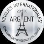 Palmarès 2020 - Millésimes 2019 | LE CELLIER DES 3 COLLINES - Médaille d'Argent - Vinalies Paris