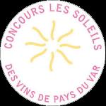Palmarès 2021 - Millésimes 2020   LE CELLIER DES 3 COLLINES - Médaille Concours Les Soleils