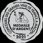 Palmarès 2021 - Millésimes 2020   Médaille d'Argent Concours des Grands vins de France - Foire de Macon