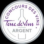 Palmarès 2021 - Millésimes 2020   Médaille d'Argent Concours Terre de Vins